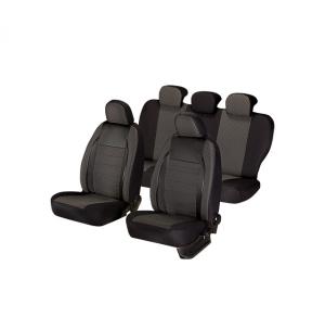 Huse scaune auto RENAULT CLIO 1998-2010  dAL Elegance Negru,Piele ecologica + Textil