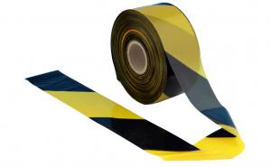 0715-200NG / Banda delimitare acces 8cm x 200m negru-galben, 1 rola, neadeziva