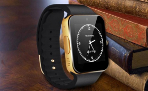 SmartWatch metalic: telefon, camera, pedometru, bluetooth, microsim (optional)