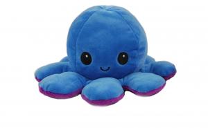 Caracatita reversibila din plus,fata fericita si trista Mood Octopus,Cu 3 moduri de iluminat LED