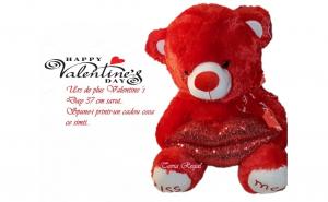Urs de plus Valentine 's Day, 37 cm, Kiss