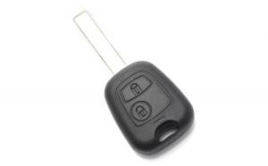 Citroen / Peugeot - Carcasa cheie cu 2 butoane