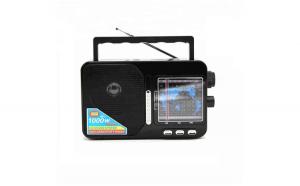 Set Radio Portabil AM/FM/SW1-7 9 Benzi, Acumulator Inclus, USB/TF/SD Card, Soundvox™ FP-1821U, Negru + Boxa Portabila Mini Speaker BT-85 Centenarul Romaniei