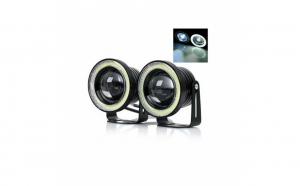 Set 2 proiectoare auto cu LED Angel Eyes, 64mm