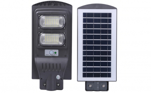 Lampa 100W stradala de exterior, panou solar si senzor de miscare