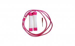 Coarda de sarit reglabila cu leduri colorate si rulmenti, roz, 230 cm