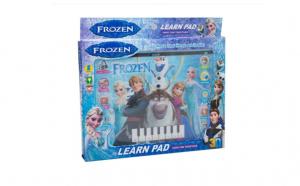 Tableta educativa si distractiva pentru fete, personajele din Frozen, cu sunete, 12 functii muzicale