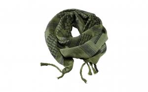 Esarfa Shemag airsoft, Verde cu negru din bumbac 100%, cu franjuri atasati