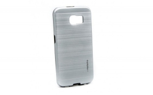 Husa Samsung Galaxy S6 Edge Plus Motomo V5 Argintiu