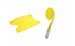 Suport ecuson orizontal, galben, 9X6,5cm, Vivo,T3535 yellow