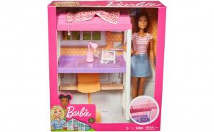 Set de joaca Barbie Mobila si accesorii dormitor