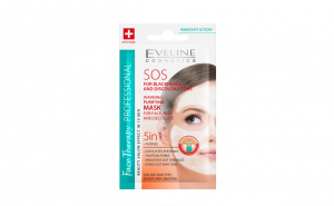 Masca de fata termica purificatoare Eveline Cosmetics SOS 5 in 1 7 ml