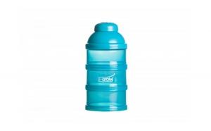 Recipient pentru lapte praf cu 3 compartimente, Non BPA, albastru