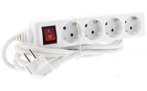 Prelungitor 4 prize 3M cu intrerupator, cablu 3xG1.5mmp, Well