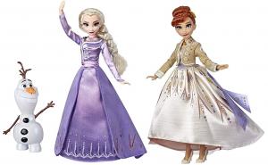 Set papusi Anna, Elsa 30 cm si Olaf