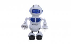 Robotel cu lumini, canta si danseaza pe ritm