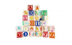 Set 26 Cuburi Litere/Cifre/Obiecte