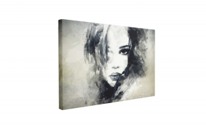 Tablou Canvas Abstract Woman Portrait, 60 x 90 cm, 100% Poliester