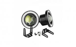 Set 2 proiectoare LED cu lupa si Angel Eyes
