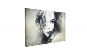Tablou Canvas Abstract Woman Portrait, 40 x 60 cm, 100% Poliester