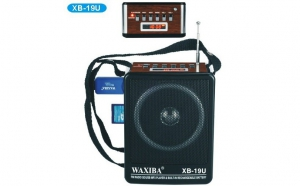 Mini boxa portabila Waxiba cu afisaj MP3 player radio FM SLOT USB / CARD SD, acumulator intern capacitate ridicata, la 57 RON in loc de 140 RON