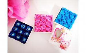 Aranjament trandafiri din sapun