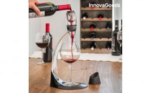 Decantor profesional de vin  InnovaGoods - mximizeaza gustul si proprietatile vinului, pentru a-l servi în conditii optime