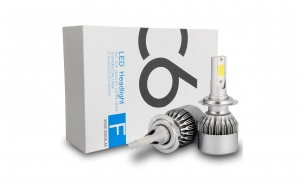 Kit becuri led auto C6 - H7, Iluminare inteligenta