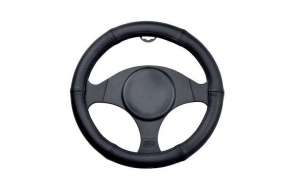 Husa volan piele negru 35-37 cm 3238, Automax