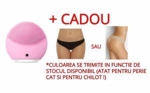Perie de curatare faciala + Cadou: Chilot tanga, fara cusatura