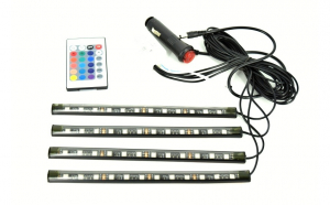 Kit interior Led 12 SMD cu telecomanda