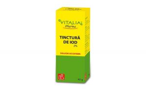 Tinctură de iod 2% Vitalia Pharma, 40 ml