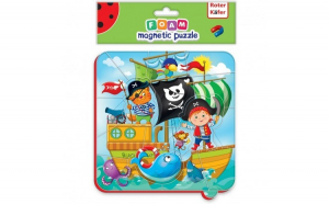 Puzzle magnetic Pirati Roter Kafer RK5010-01 Initiala