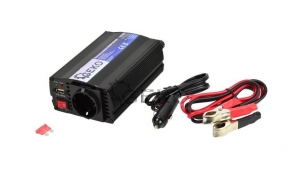 Invertor auto 12v-220v - 350W/700W, cu USB, Geko G17002