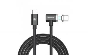 Cablu de date/incarcare Baseus, Magnetic USB-C to USB-C, 1.5 m, Negru