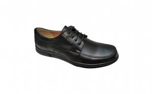 Pantofi lati-largi, din piele naturala, cu siret, talpa EPA
