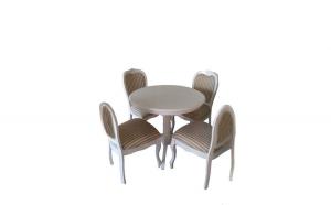Masa rotunda cu 4 scaune, 90x75x90,