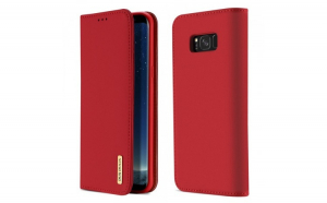 Husa Bookcase DUX DUCIS Wish Genuine Leather Samsung Galaxy S8 Plus G955 red