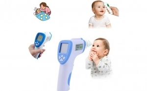 Termometru digital non contact,  infrarosu  precis si igienic, 32 memorii