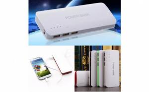 Baterie Externa Power 20000 mah cu 3 USB pentru telefoane, tablete, camere foto/video