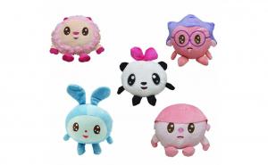 Set 5 Jucarii de plus Baby Riki 15-20cm: Pandi , Ariciul , Topa, Grohi , Milu