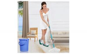 Papuci de Casa pentru Curatenie Podea , Tip Mop pentru Gresie si Parchet, Marime Universala, Verde