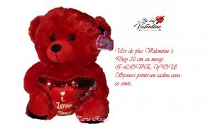 Urs de plus Valentine 's Day, 30 cm, Ziua indragostitilor, Voi doi