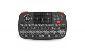 Tastatura Techstar® Rii i4  Dual Mode Wireless + Bluetooth  Scroll  TouchPad  Controller  Iluminata