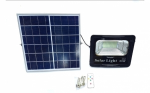 Proiector LED 60 W cu panou solar