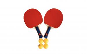 Set palete tenis de masa Huoban cu 4 mingi