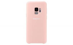 Husa de protectie Samsung Silicone Cover, pentru Galaxy S9, Roz