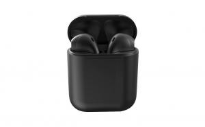 Casti Bluetooth MRG L-inPods 12, Cu carcasa, Handsfree, Negru C376