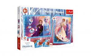 Puzzle Trefl 2 in 1 + Joc Memo Frozen II