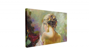 Tablou Canvas Portrait of the Exposed Girl, 60 x 90 cm, 100% Bumbac